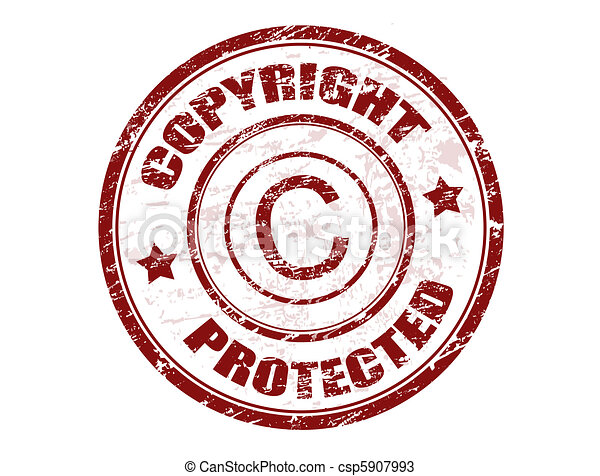 Copyright protected stamp - csp5907993