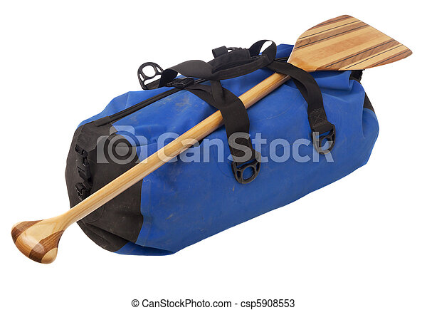 canoe paddle and waterproof duffel - csp5908553