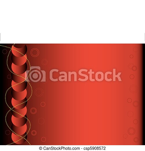 Red and black abstract background, copy space for text - csp5908572