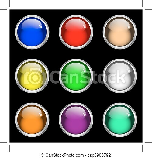Glossy gel web buttons - csp5908792