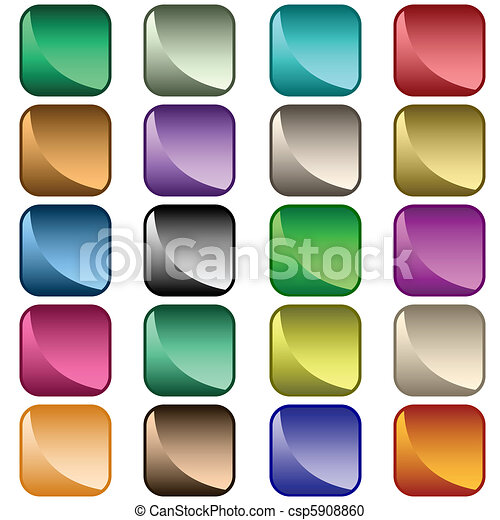 Web buttons assorted colors - csp5908860