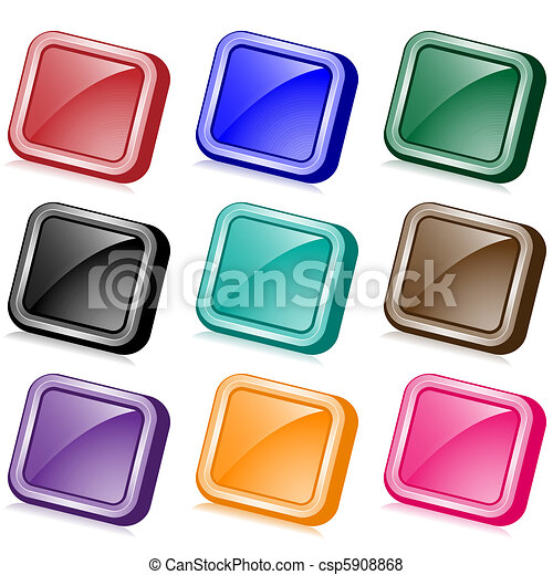 Square web buttons angled - csp5908868