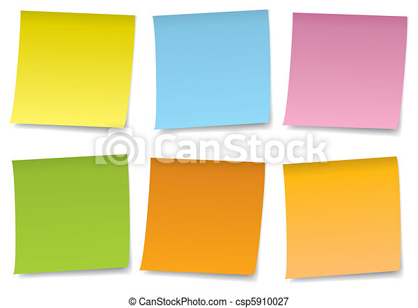 adhesive notes vector set - csp5910027