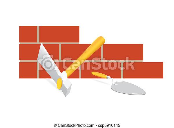 Clipart vectorial de herramienta alba il el - Herramientas del albanil ...