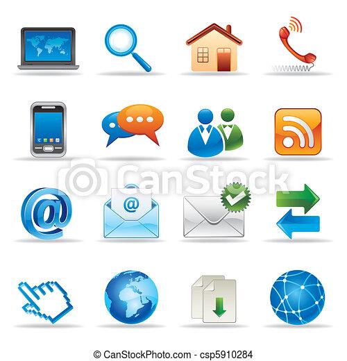 sitio web,  internet, iconos - csp5910284