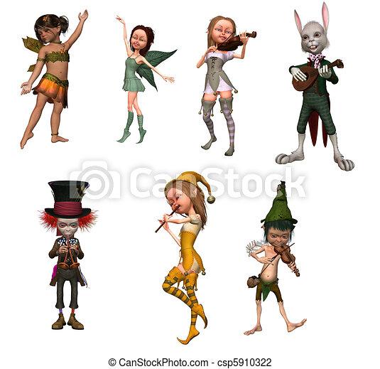 fairy figurines - csp5910322