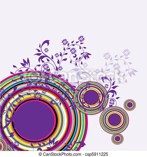 circles abstract vector - csp5911225
