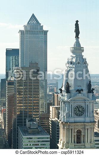 William Penn Statue City Hall Philadelphia PA - csp5911324