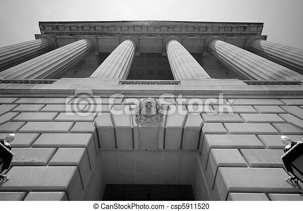 impondo, predios,  Washington,  DC, Governo - csp5911520