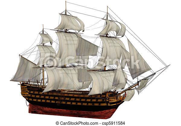 Old Ship Drawing