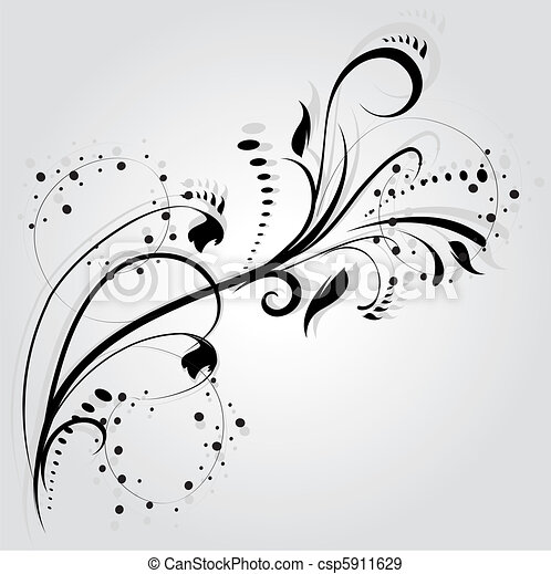 Vecteur Floral Silhouette 233 L 233 Ment Conception Vecteur