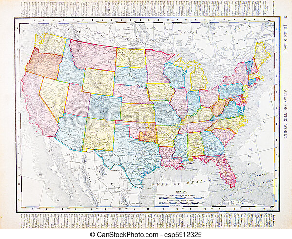 地图, 我们, 1900
