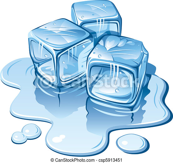 Ice Cubes Drawing Ice Cubes Stylized Ice Cubes