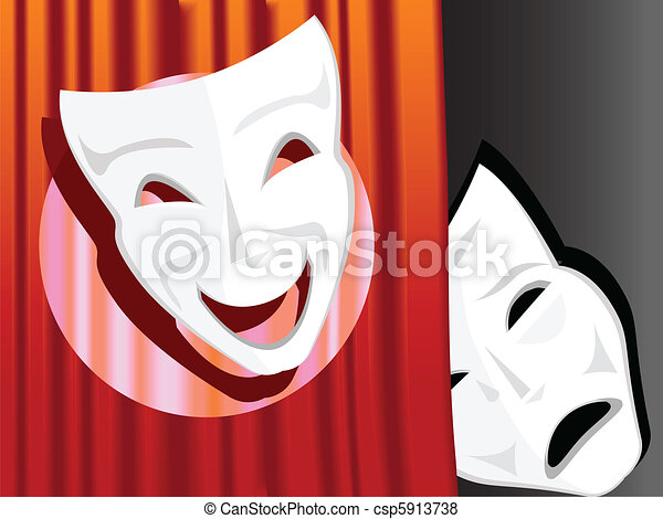 symbol of a comedy and tragedy - csp5913738