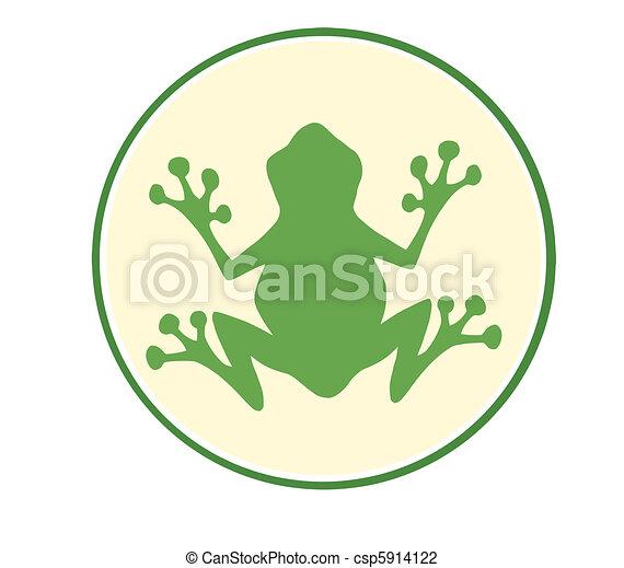 Frog Green Mascot  - csp5914122