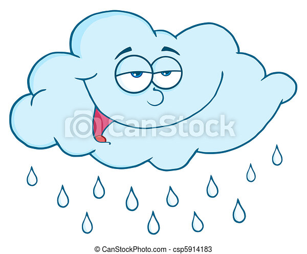 Cloud With Rain Drops - csp5914183