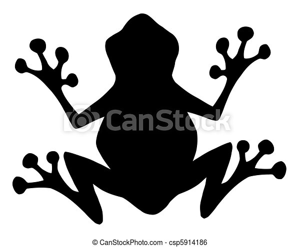 Frog Black Silhouette - csp5914186