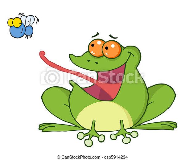 图形青蛙拼贴画