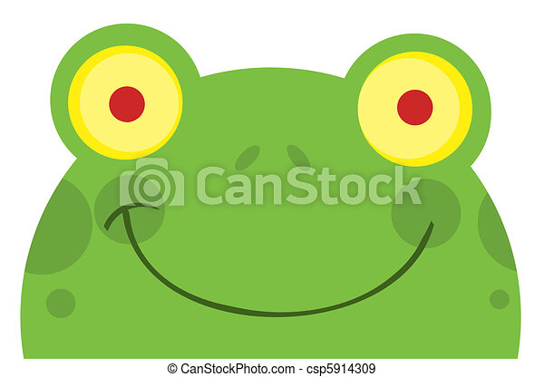 Smiling Frog Face - csp5914309