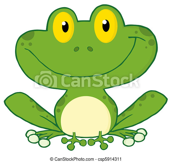 Green Frog Clipart Smiling Green Frog clipart