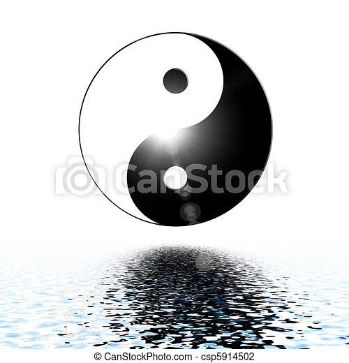 Symbol of yin and yang of the background. - csp5914502