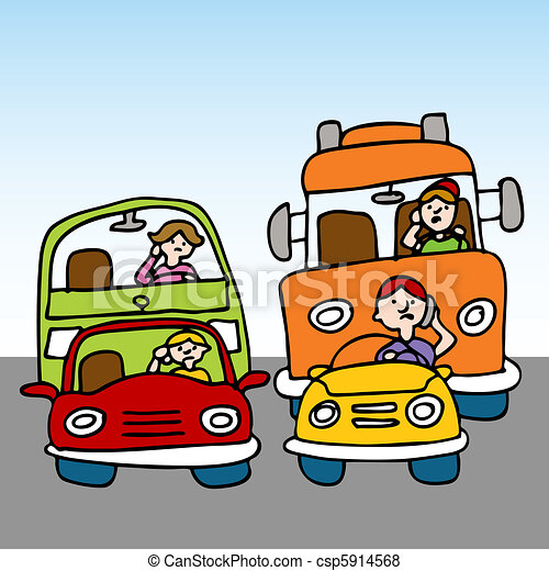 Dangerous Driving While Using Cellphone - csp5914568