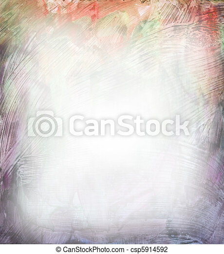 Beautiful watercolor background in soft purple and orange - csp5914592