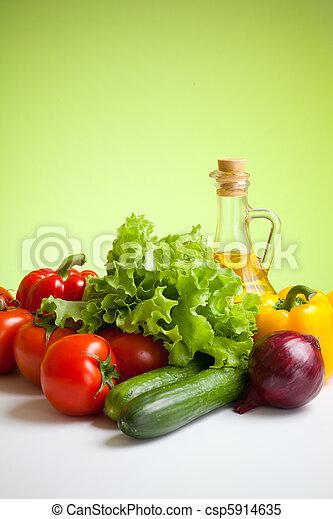 fresco, legumes, ainda, vida - csp5914635