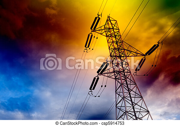 Electrical transmission tower - csp5914753