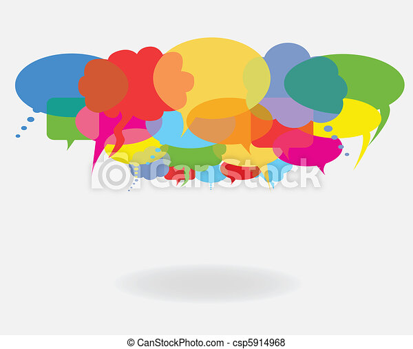 Talk and speech bubbles - csp5914968