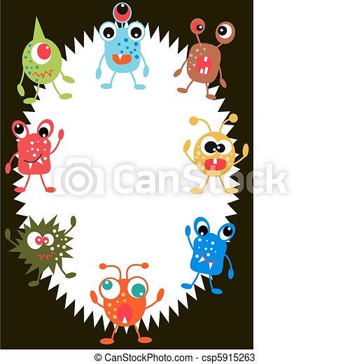 Vecteurs de monstre carte anniversaire ou invitation carte csp5915263 recherchez des - Carte invitation anniversaire monstre ...