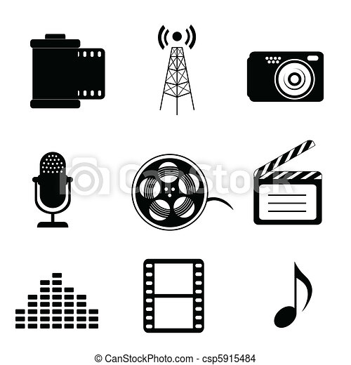 eps vector of mass media icons in black csp5915484 vector music notes background vector musical notes png