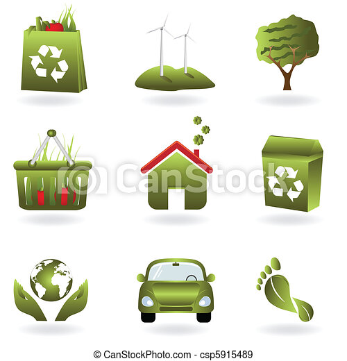 Recycle and green eco symbols - csp5915489