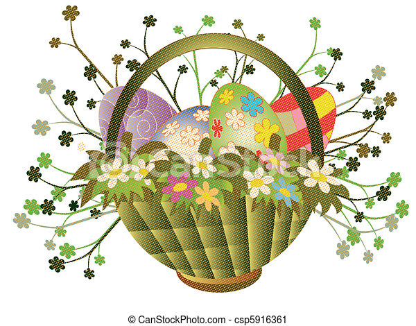 Easter basket - csp5916361