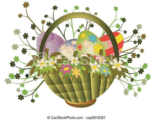 Easter basket - csp5916361