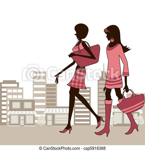 Town women - csp5916368