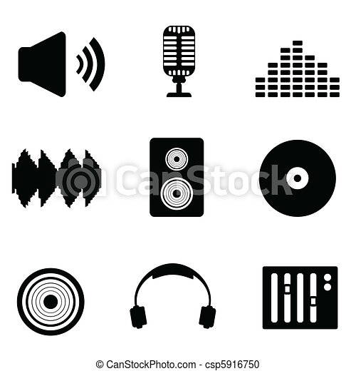 Audio, music and sound icons - csp5916750