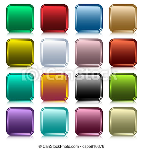 Web buttons square set - csp5916876