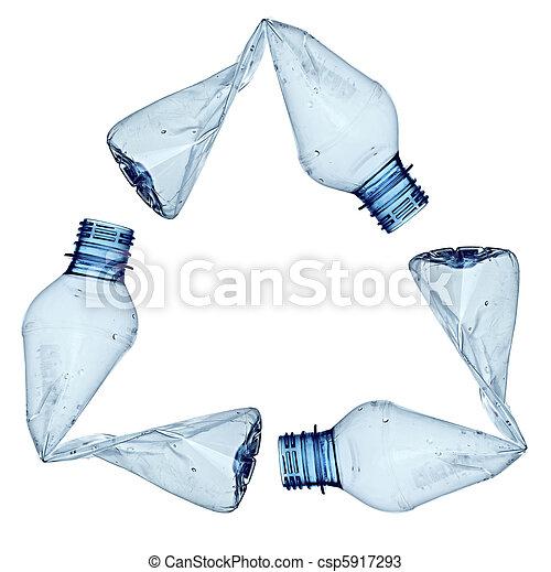 empty used trash bottle ecology environment - csp5917293