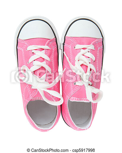 Sneakers (Tennis Shoes) over white - csp5917998