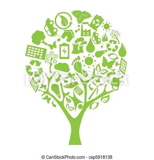 Green eco tree - csp5918138