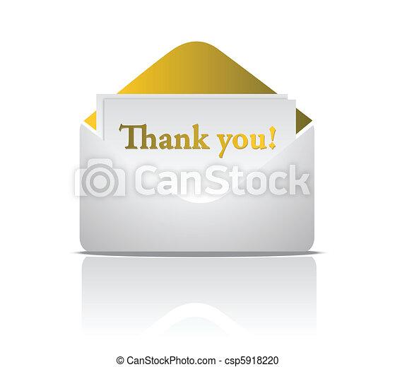 thank you golden envelope - csp5918220
