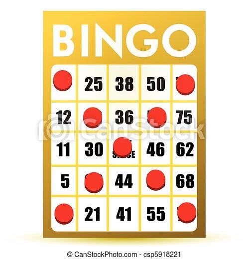 winner yellow bingo card  - csp5918221