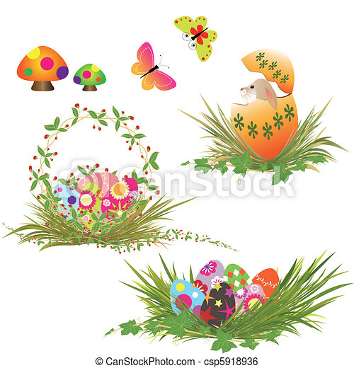 Set of Easter eggs collection - csp5918936