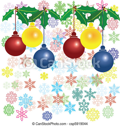 christmas balls and flakes - csp5919044