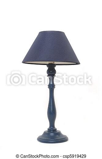 isolated blue floor lamp  - csp5919429