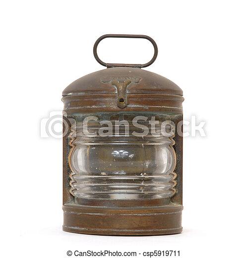 antique nautical lantern  - csp5919711
