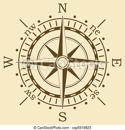 vector brown compass - csp5919823