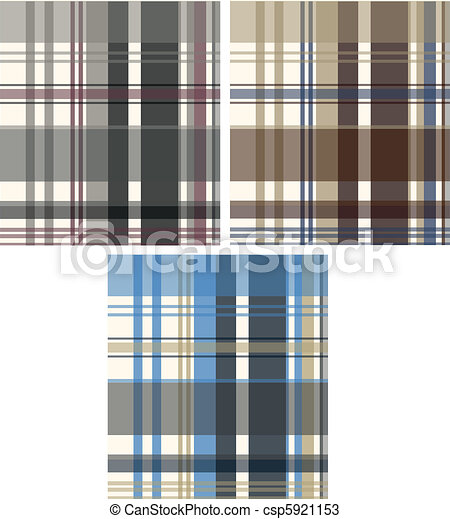 fashion fabric plaid check textile  - csp5921153