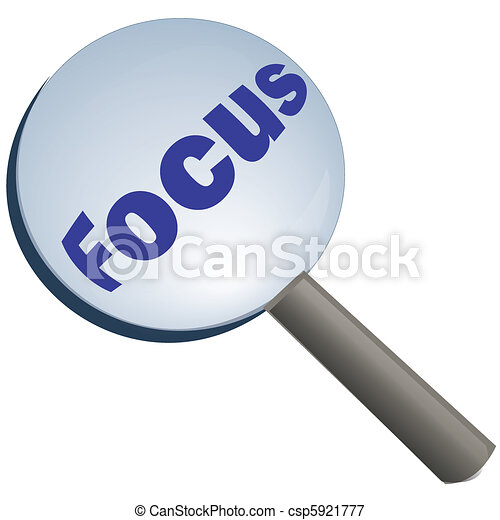 focus with magnifying glass - csp5921777